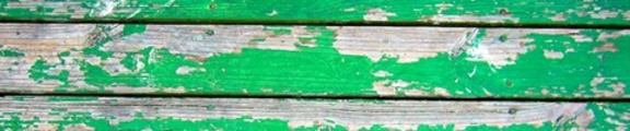 Thumbnail Green Paint flaking off wooden boards, Web Banner Photo
