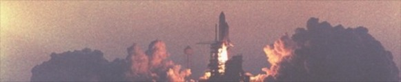 Thumbnail Space Shuttle Atlantis blastoff, web banner photo