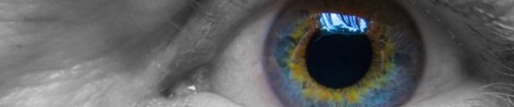 Thumbnail Human eye close-up, web banner photo