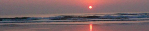 Thumbnail Sunrise over Atlantic Ocean surf, web banner photo