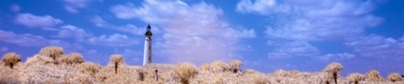 Color Infrared Lighthouse and Clouds, web banner photo