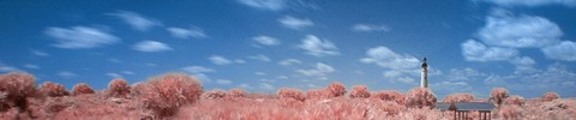 Thumbnail Color Infrared Lighthouse and Clouds, web banner photo