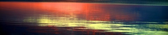 Sunset reflection, web banner photo