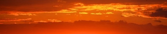 Sunset Clouds, web banner photo