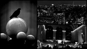 Scenes from NYC collage in black and white