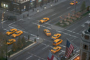 9 Taxis , Park Ave, New York City