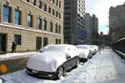 Thumbnail Parked cars buried in snow, New York, New York