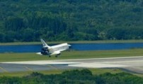 Space Shuttle Atlantis lands a Kennedy Space Center