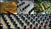 Thumbnail Musical Instrument Collage stock video clip