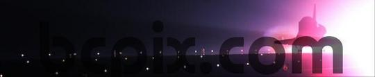 Product picture Space Shuttle Endeavour lands at night, web banner photo