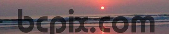 Product picture Sunrise over Atlantic Ocean surf, web banner photo