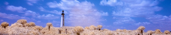 Product picture Color Infrared Lighthouse and Clouds, web banner photo