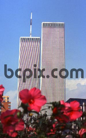Product picture World Trade Center, New York City with flowers,1999