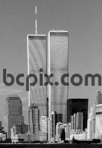 Product picture World Trade Center, New York City skyline 1999 B&W
