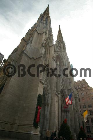 Product picture St. Patricks Cathedral under cloudy skies in New York City